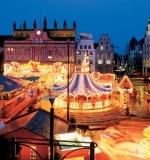 Rostock, Baltic Sea - Christmas Market by the Town Hall and Merry-Go-Round